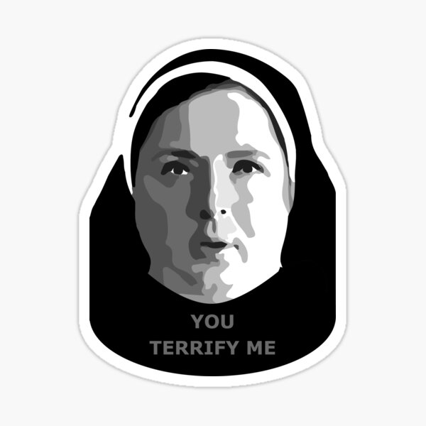 Sticker ONLY - You terrify me - Sister Michael Derry Girls Sticker
