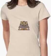 Sitting Grey Owl  T-Shirt