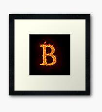 fire alphabet Framed Print