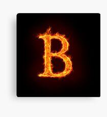 fire alphabet Canvas Print