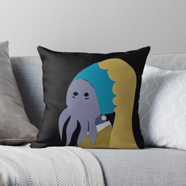 Illithid Content Throw Pillow
