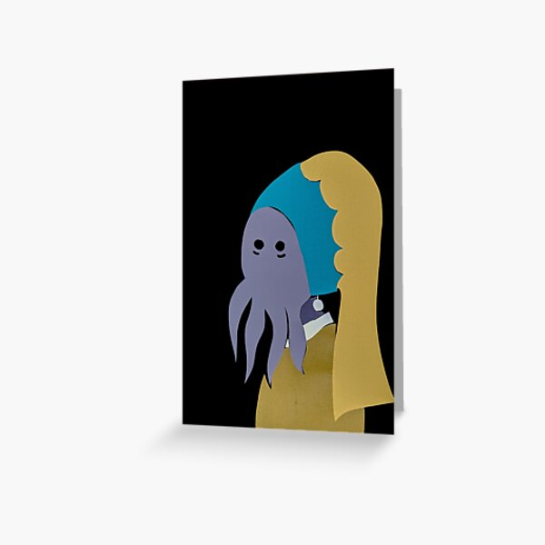 Illithid Content Greeting Card