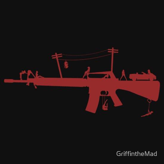 """TShirtGifter presents: Red Light M16 """"Dark"""""""