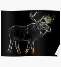 Medicine Wheel Totem Animals by Liane Pinel- Moose Poster