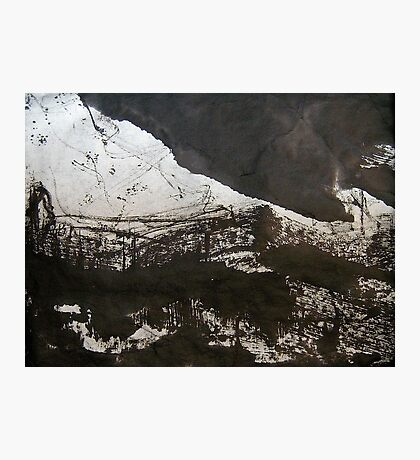 black cloud.... snowed in hamlet Photographic Print
