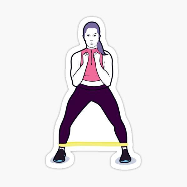 Woman using mindibands Sticker
