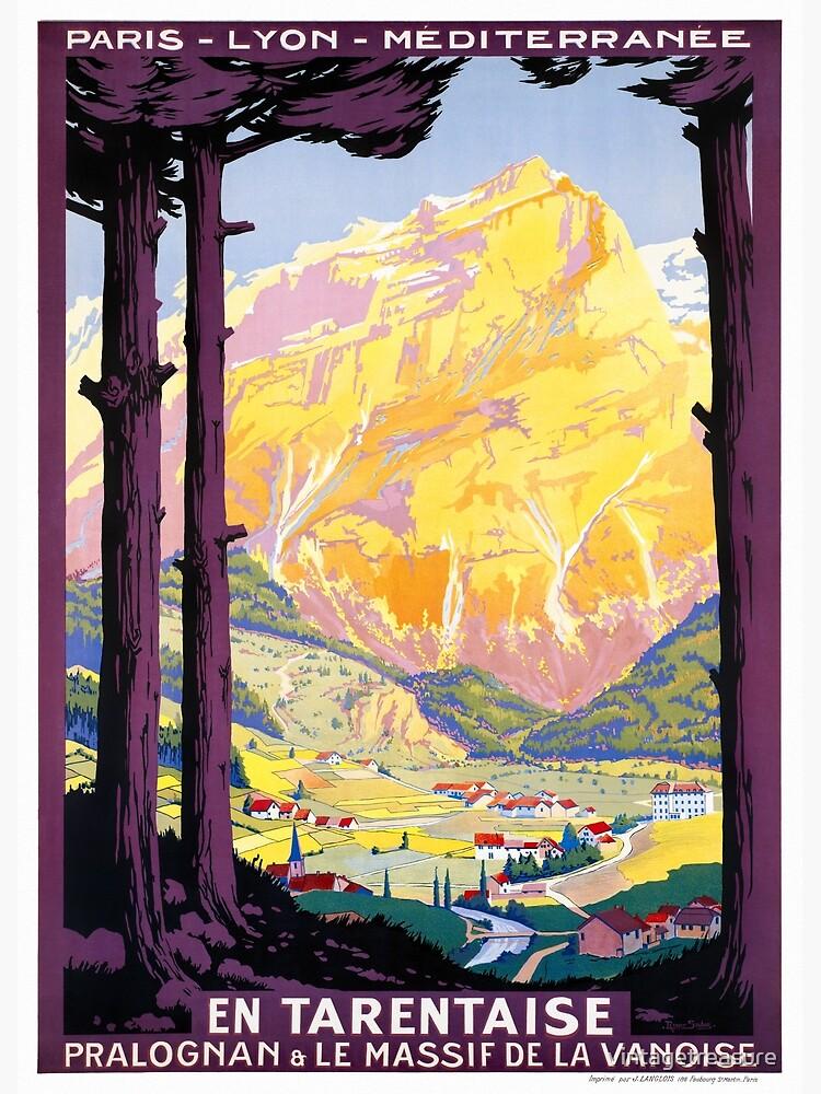 France Vintage Railroad Travel Poster Restored 1920 by vintagetreasure