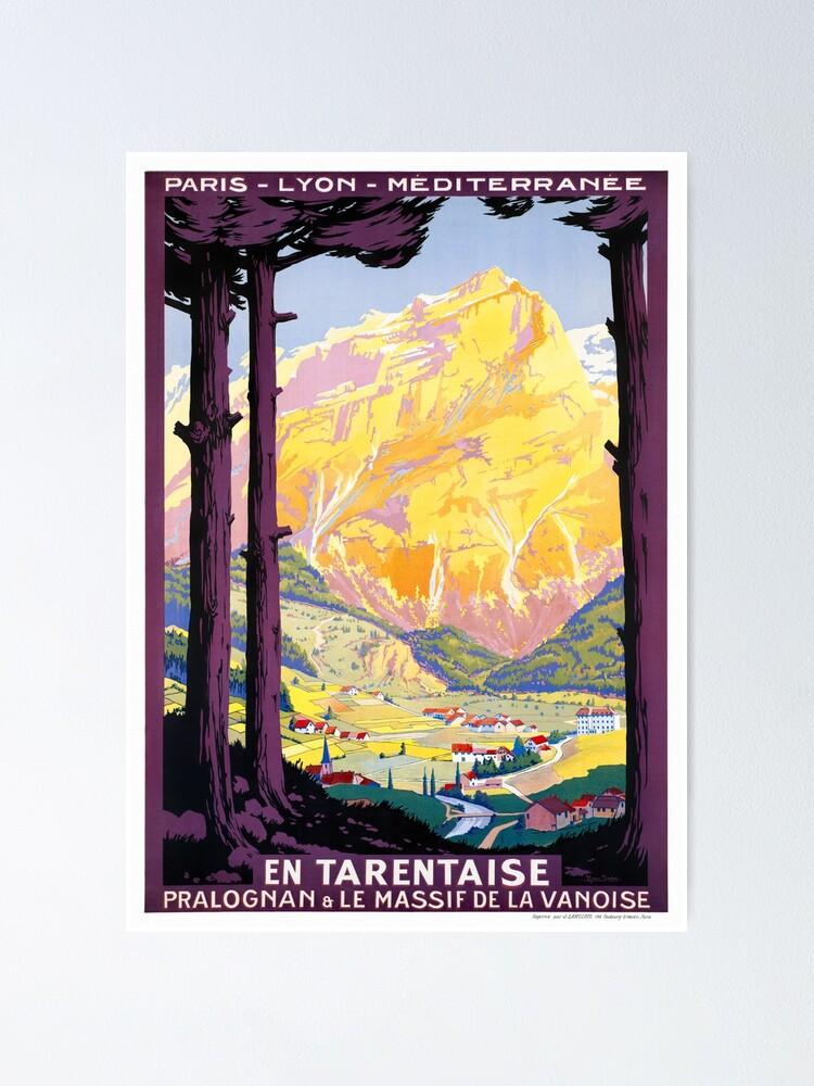 Alternate view of France Vintage Railroad Travel Poster Restored 1920 Poster