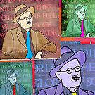 JAMES JOYCE, IRISH POET, COLLAGE by Clifford Hayes