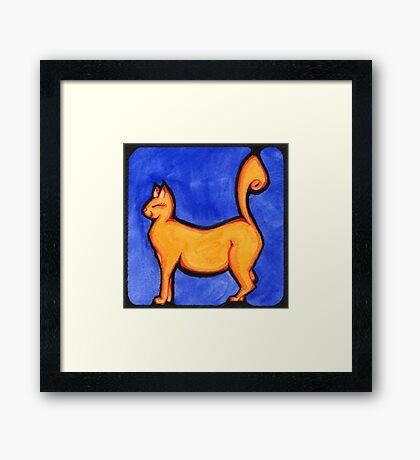Happy Tail Framed Print