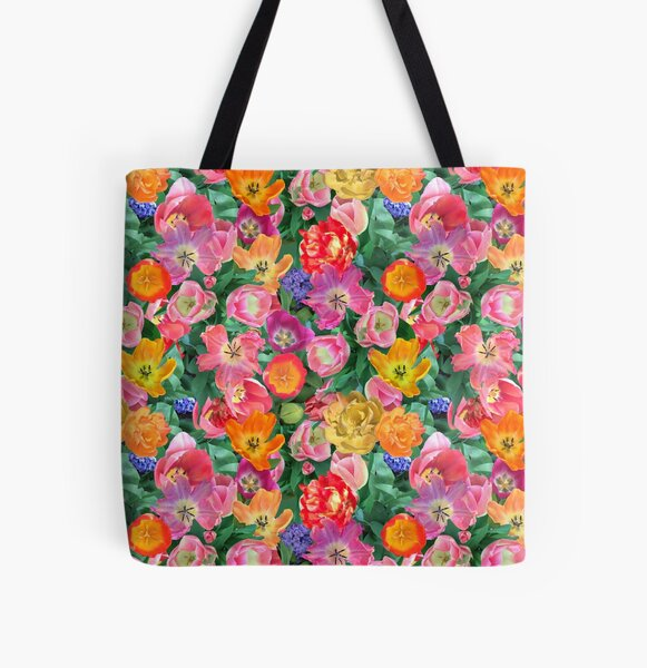 Tulip happy by Tea with Xanthe All Over Print Tote Bag
