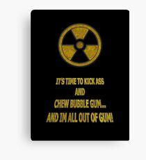Duke Nukem - Chew Bubble Gum Canvas Print