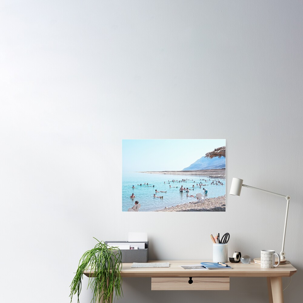 Dead Sea, Israel. Floating and Relaxing. Poster