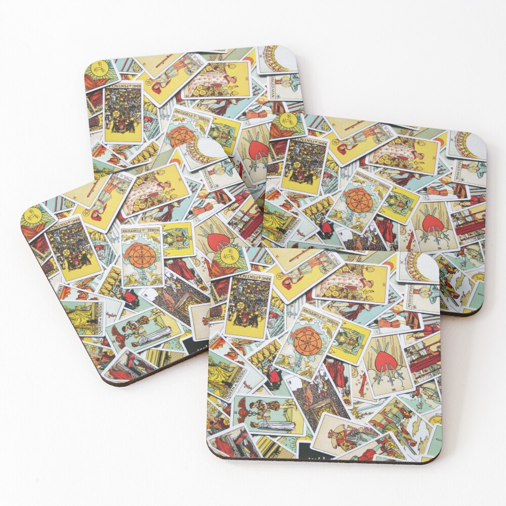 Tarot Card Collection Coasters (Set of 4)
