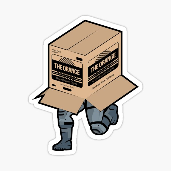 Solid Snake Sneaking in Box - Metal Gear Solid  Sticker