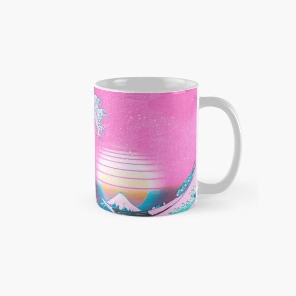 Vaporwave Aesthetic Great Wave Off Kanagawa Retro Sunset Classic Mug