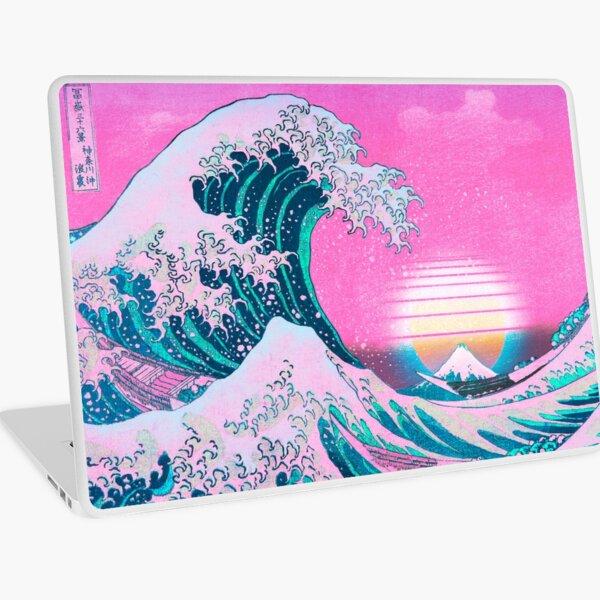 Vaporwave Aesthetic Great Wave Off Kanagawa Retro Sunset Laptop Skin