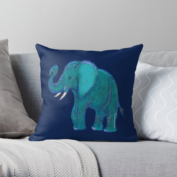 Elephantasy Throw Pillow