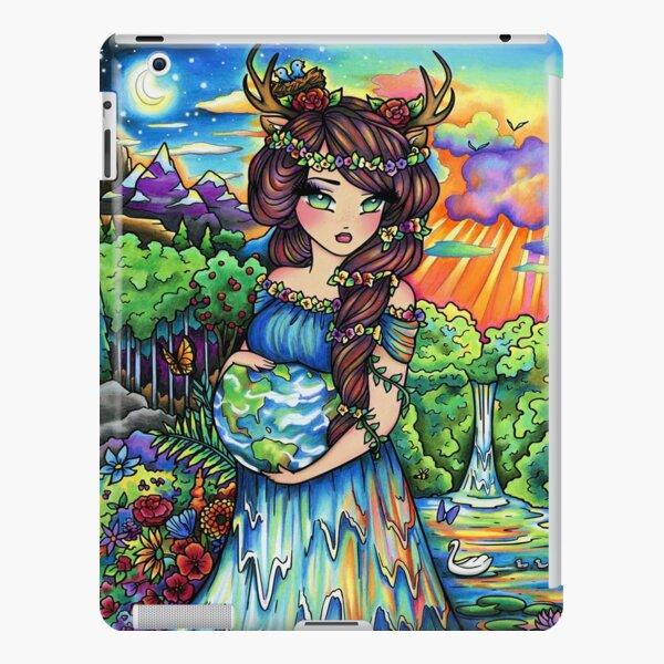 Mother Earth, Mother Nature Pregnant Fantasy Landscape Artwork iPad Snap Case
