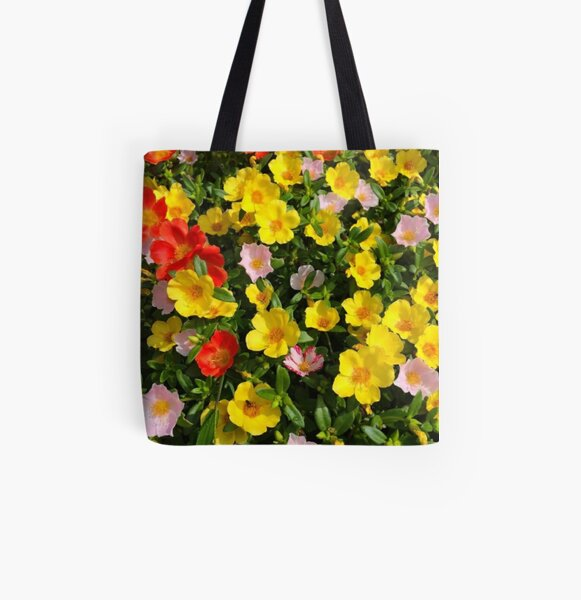 moss rose,how to grow All Over Print Tote Bag