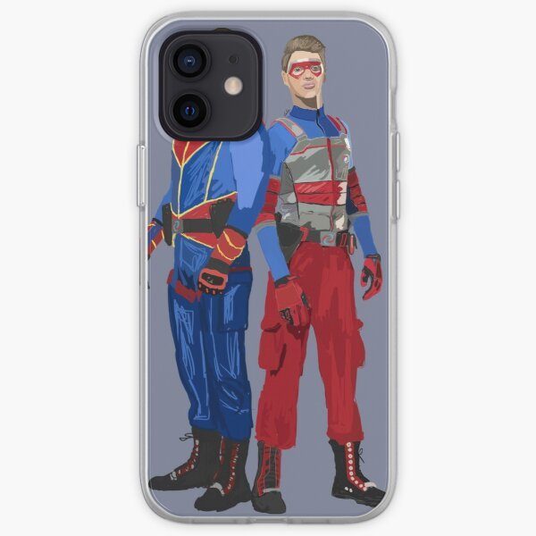 Capitán Man y Kid Danger Funda blanda para iPhone