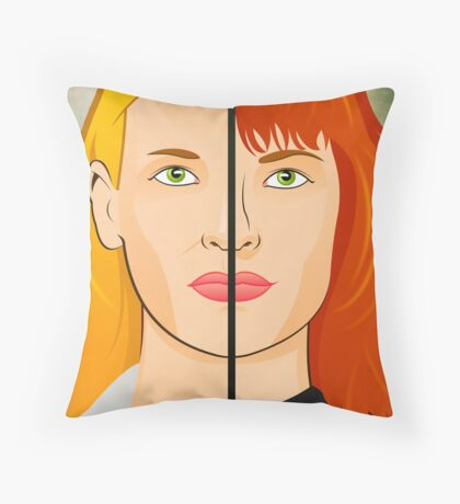 Olivia VS Fauxlivia | Fringe Throw Pillow