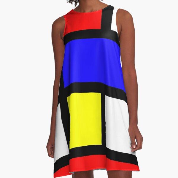 1960s Mondrian A-Line Dress A-Line Dress