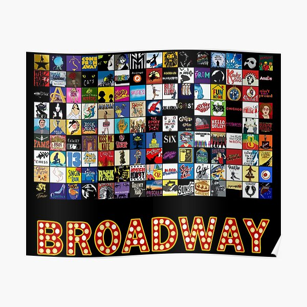 Broadway Musical Theatre Logos - Hand Drawn Poster