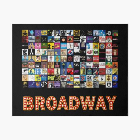Broadway Musical Theatre Logos - Hand Drawn Art Board Print