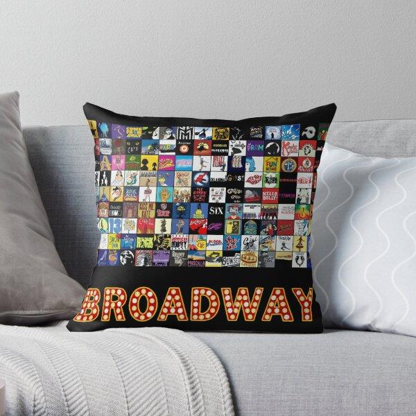 Broadway Musical Theatre Logos - Hand Drawn Throw Pillow