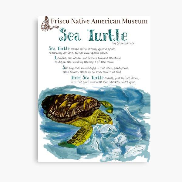Sea Turtle With Poem Canvas Print