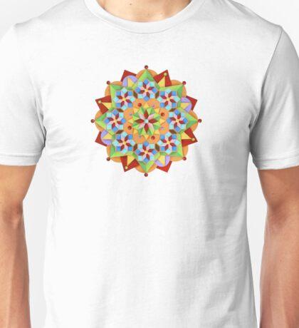 Manchester Mandala on Pink T-Shirt