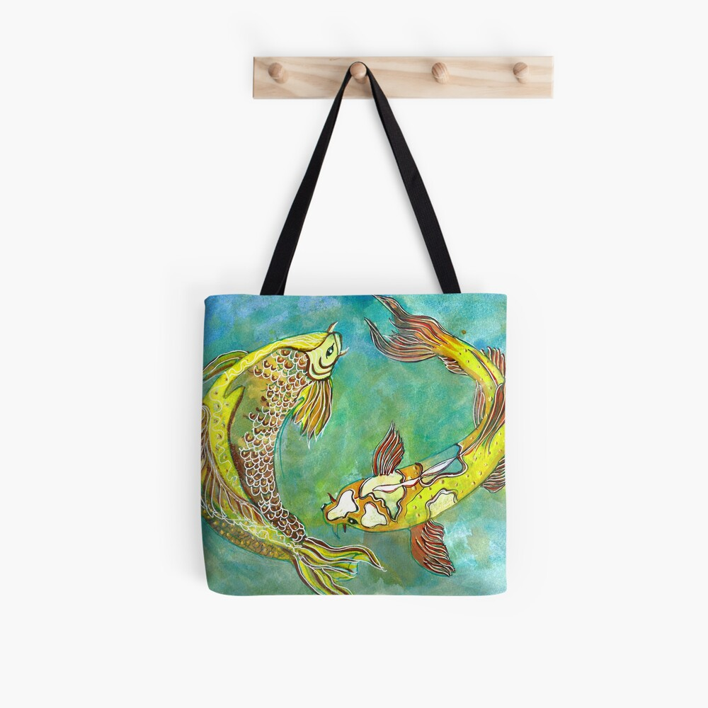 2 koi in yellow for 2020 Tote Bag