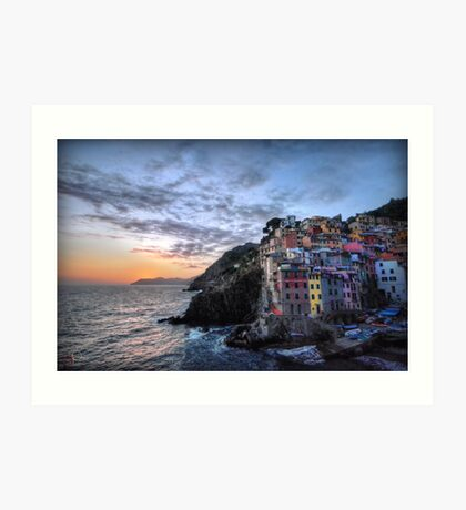 Sunset at Riomaggiore Art Print