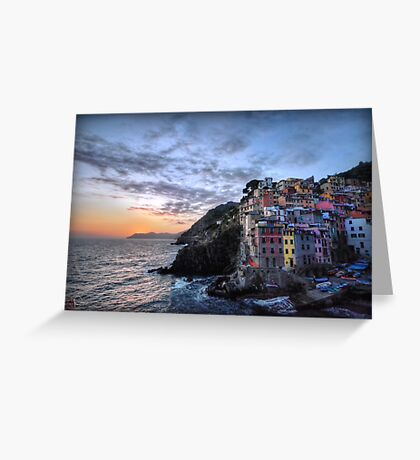 Sunset at Riomaggiore Greeting Card
