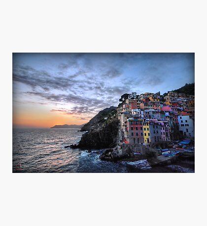 Sunset at Riomaggiore Photographic Print