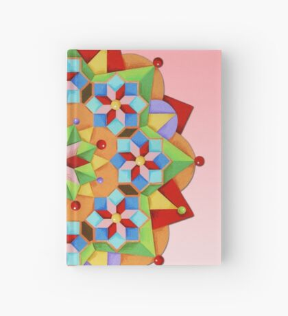 Manchester Mandala on Pink Hardcover Journal