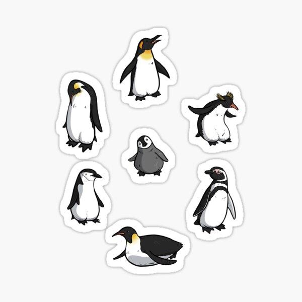 Cute Penguin Pattern Sticker