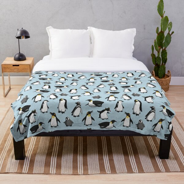 Cute Penguin Pattern Throw Blanket