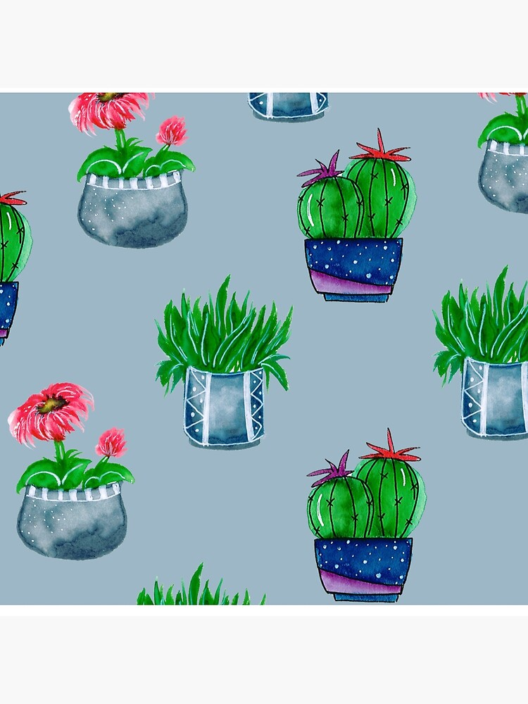 Cacti pattern by artbylenashop