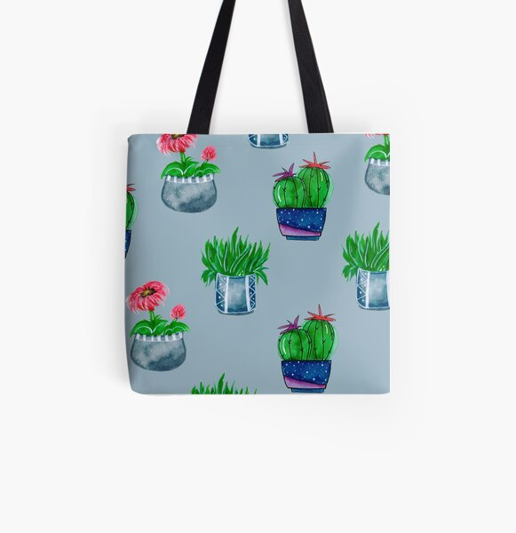 Cacti pattern All Over Print Tote Bag