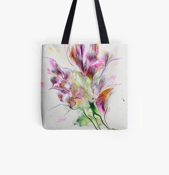 Wild Flower All Over Print Tote Bag