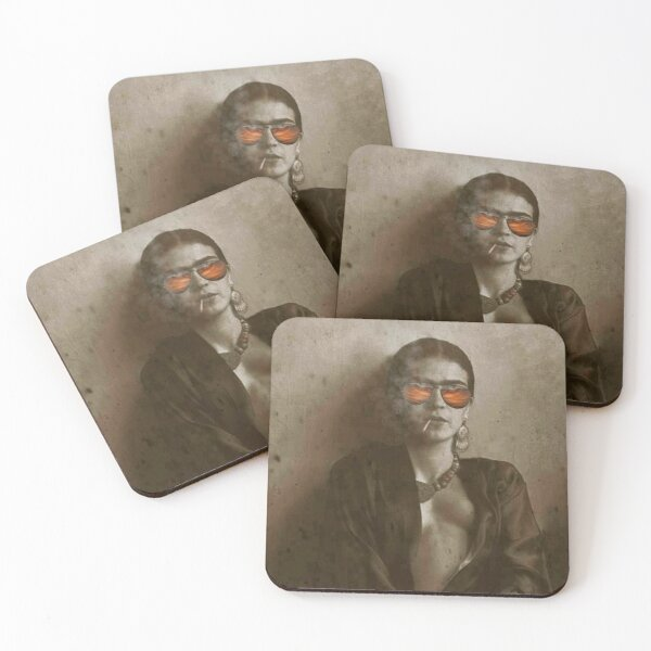 Frida Kahlo Picture Coasters (Set of 4)
