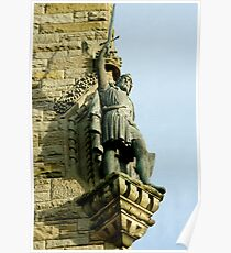 William Wallace statue at the Wallace Monument Stirling Scotland Poster