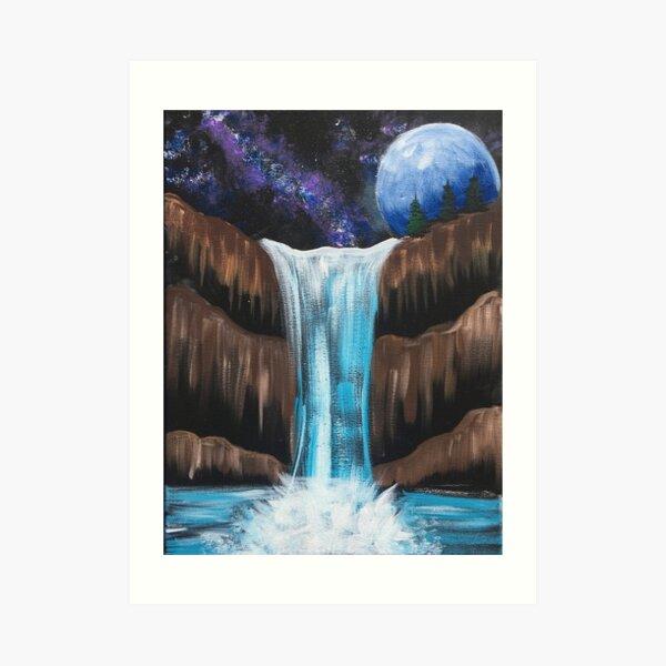 Galaxy falls Art Print