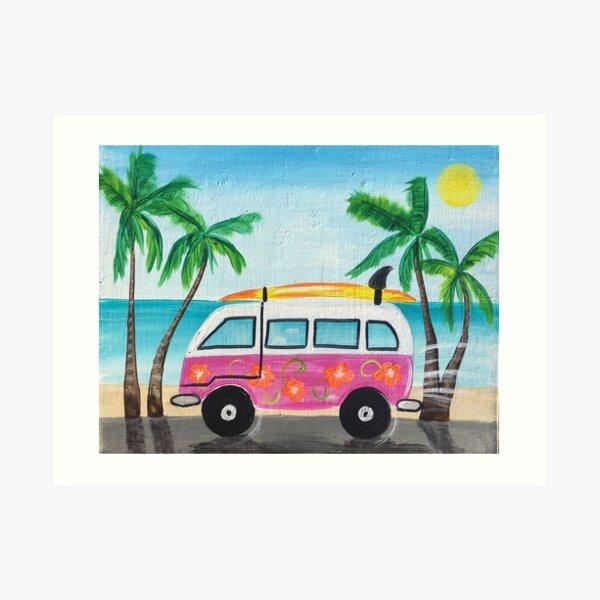 Beach Van Art Print