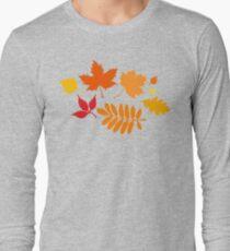 Classic Leaves Pattern Long Sleeve T-Shirt