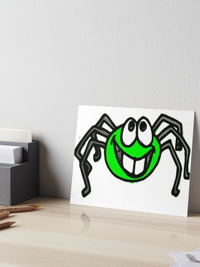 Cute Little Six Legged Spider Art Board Print By Rcbonay Redbubble