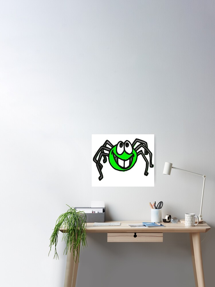 Cute Little Six Legged Spider Poster By Rcbonay Redbubble