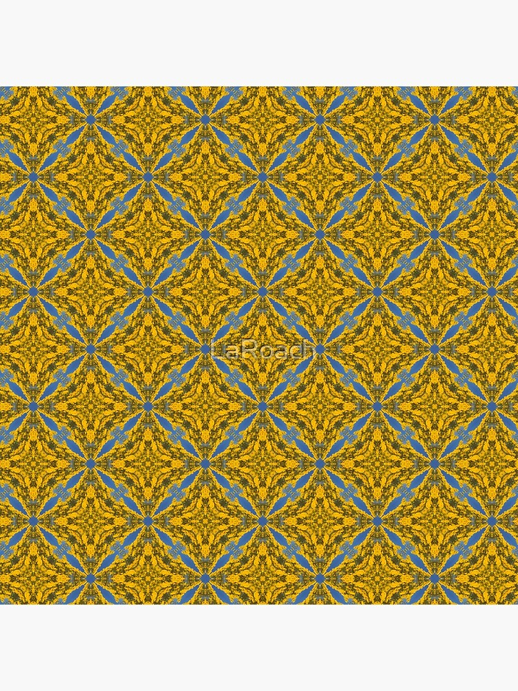 Blue and Gold Abstract Pattern by LaRoach